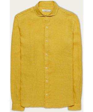 Yellow Linen Garment Dye Shirt