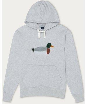 Grey Melange Duck Hunt Hoodie
