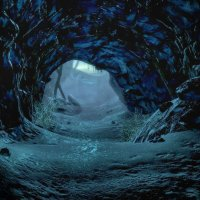 Cave of ice and snow