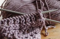 Rediscovering the joys of knitting