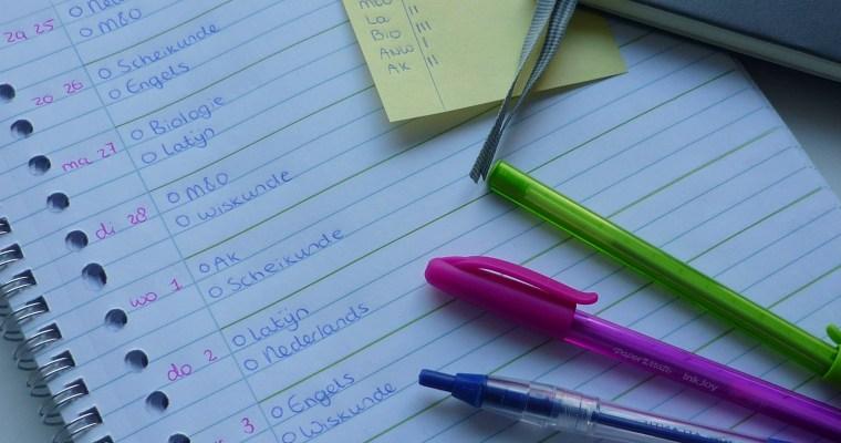 How to: toetsweek plannen
