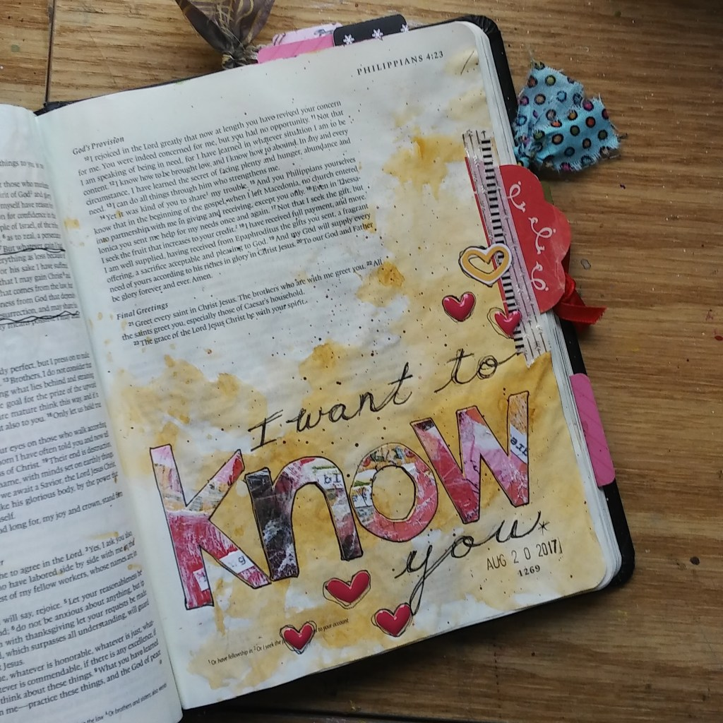 Bible Journaling Serendipity alphabet