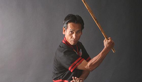 Shishir wielding arnis
