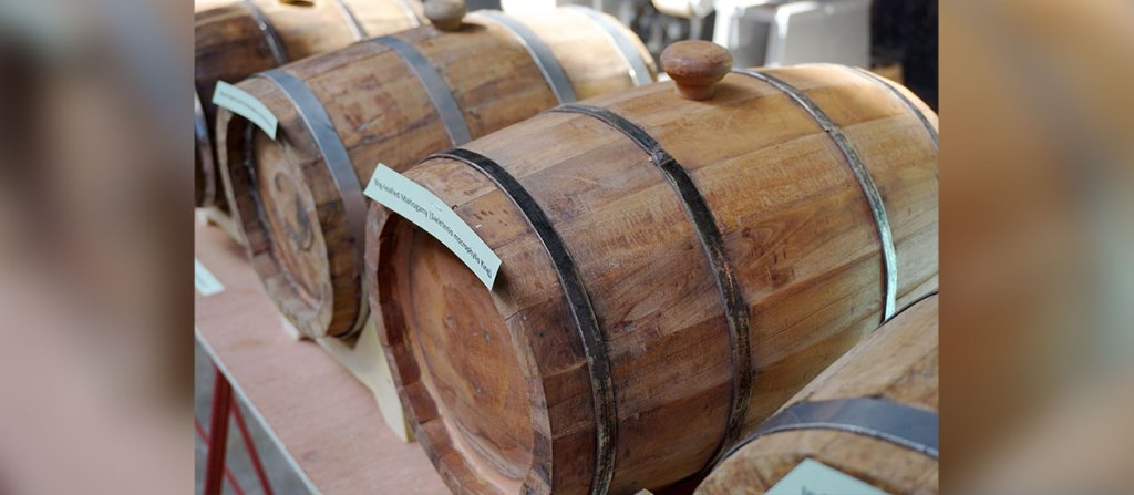 The DOST-FPRDI fruit wine barrels make use of wood from tree plantation species and old, unproductive fruit trees