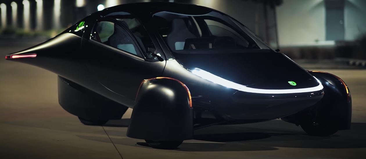 The new aptera, a futuristic car