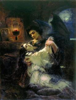 Tamara and Demon by Konstantin Makovsky
