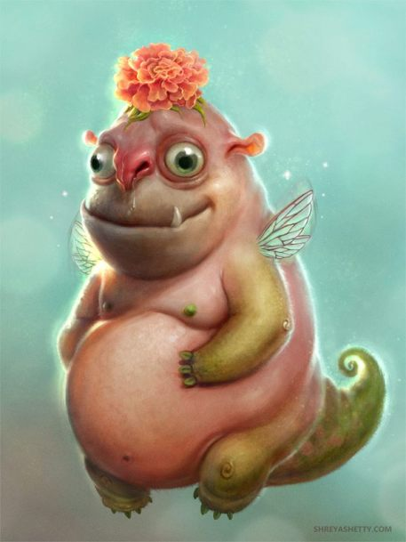 Flower Goblin by Shreya Shetty | http://www.shreyashetty.com/