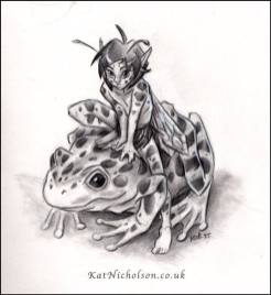 Frog Fae by Kat Nicholson | http://katnicholson.co.uk/