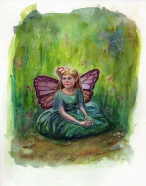 Morning Dew Fairy by Belinda Morris | http://www.belindaillustrates.com/