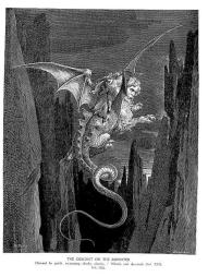 The Descent on the Monster by Gustave Dore