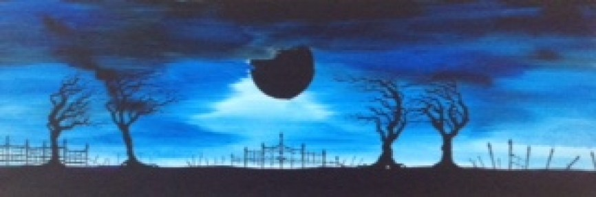Black Moon Rising 12x30 - $100