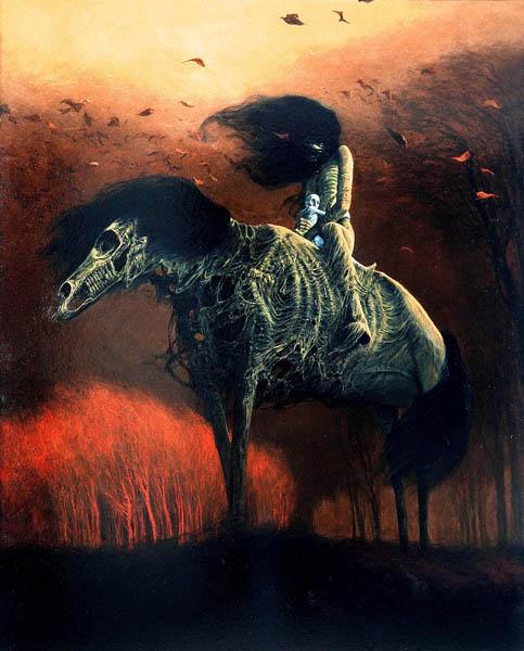 Untitled by Zdzisław Beksiński