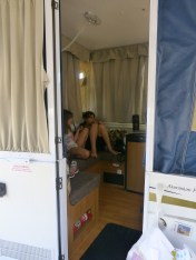 Come inside our caravan when we were camped at The Broadwater Southport last year.