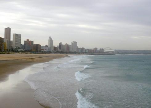 De kustlijn van Durban
