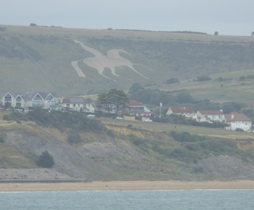The Osmington Horse Viewed from Weymouth Beach