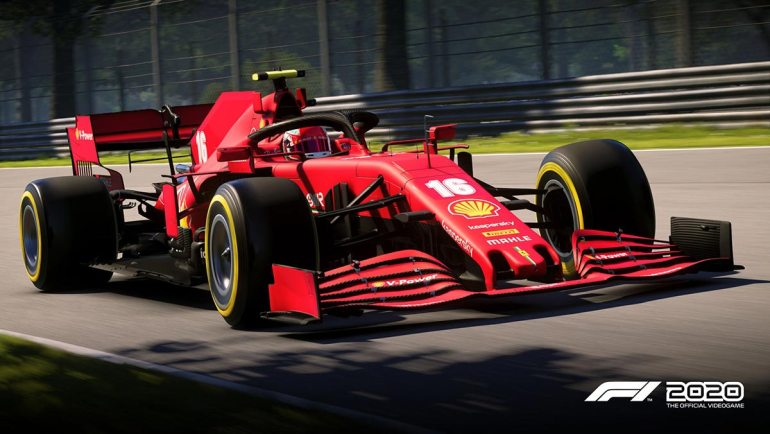 Screen di gioco F1 2020 Ferrari Leclerc