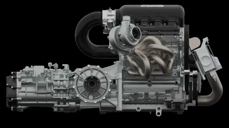 Motore 2.1 litri 505 cv e 550 Nm