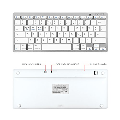 Clavier sans fil Bluetooth Layout German Layout Caseflex