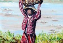 La récolte des arachides ( Birmanie )