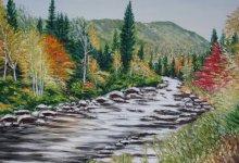 Paysage d'automne dans le Saguenay ( Canada )