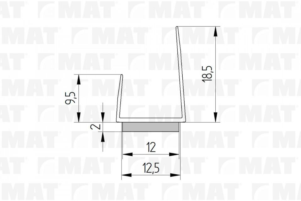Profil ukončovací 12,5 J s dilatační páskou