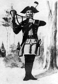 Halvmåneblæser fra Sjællandske Jæger Corps 1786