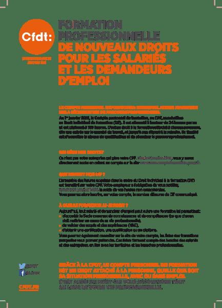 Formation professionnelle - de nouveaux droits pour les salaries Janvier 2015