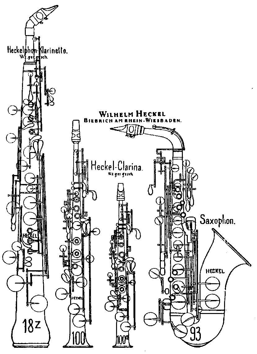 hight resolution of diagram of heckelphone clarinet
