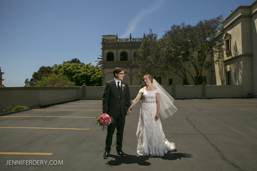 editorial style wedding photo of the bride and groom