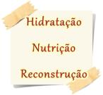 hidratação, nutrição e reconstrução