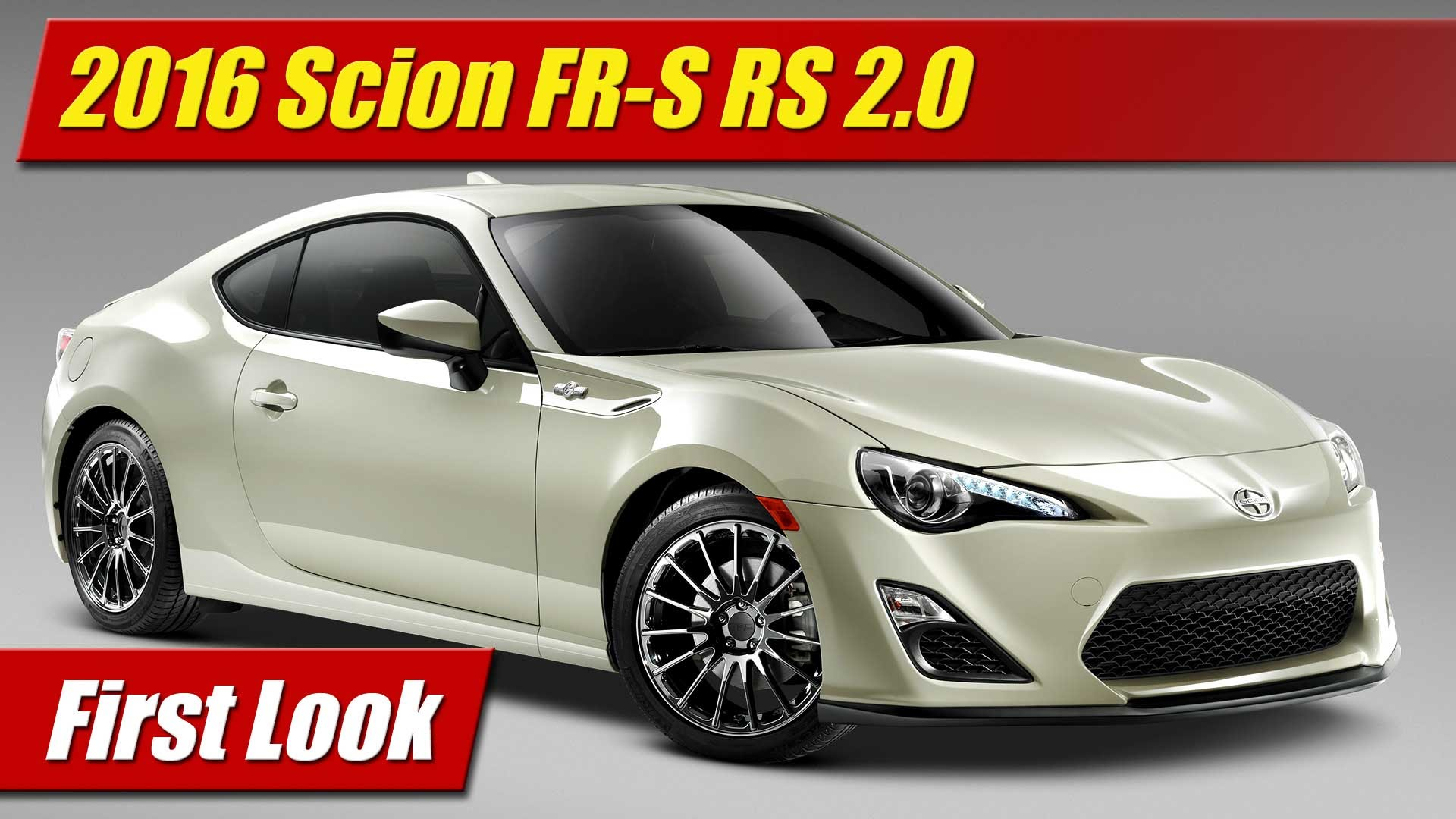 First Look 2016 Scion FRS Release Series 20  TestDrivenTV