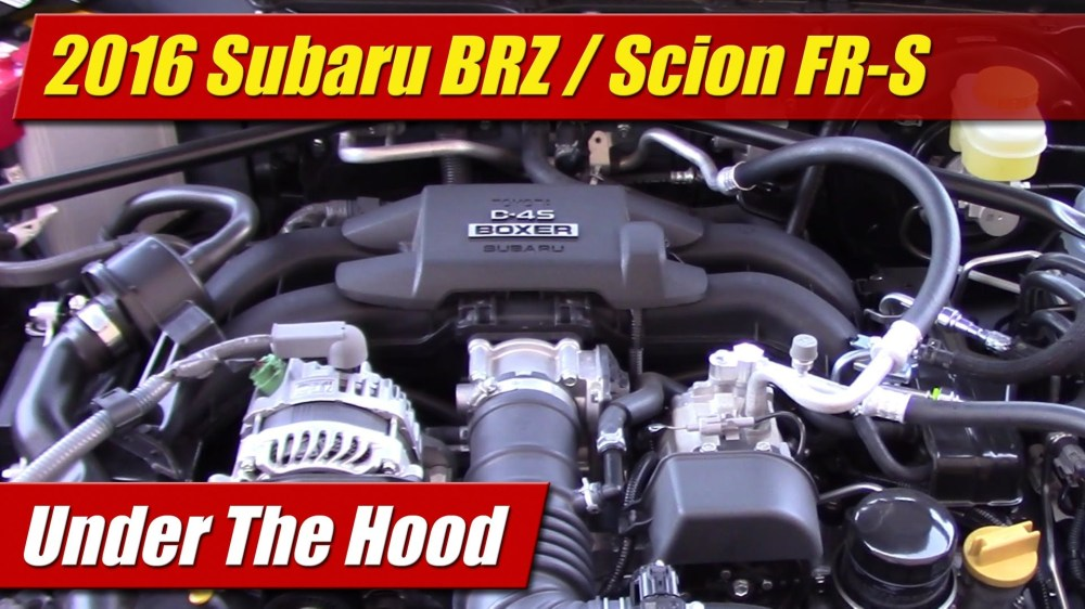 medium resolution of under the hood 2016 subaru brz scion fr s testdriven tv rh testdriven tv subaru impreza engine diagram subaru impreza engine diagram