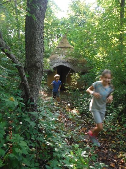 Spiral Chamber running children