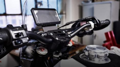 The Revit #95 motorcycle makes your iPhone the display