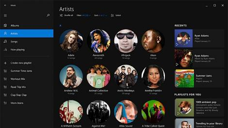 Spotify users will feel right at home with Windows 10 Music app