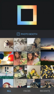Instagram collage app Layout