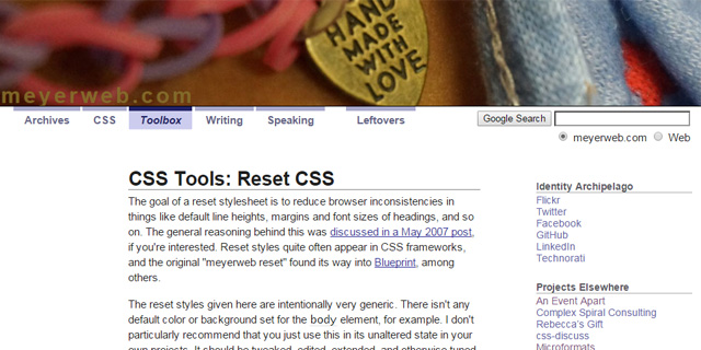 The best css reset stylesheets testedtechs reset css malvernweather Gallery