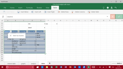 Excel for Windows