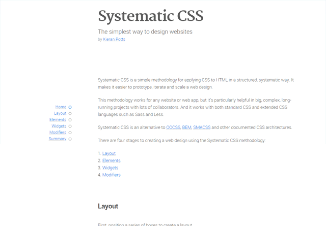 Systematic CSS