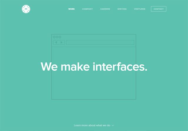 Screenshot of a clean website: MetaLab