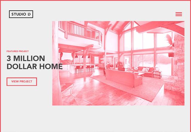 Screenshot of a clean website: Studio D
