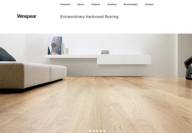 Screenshot of a clean website: Winspear
