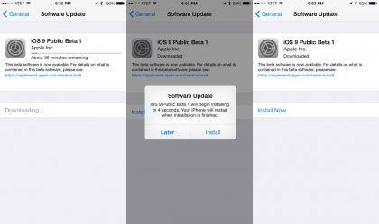download iOS 9 for iPhone and iPad