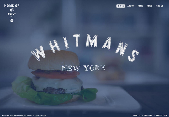Image of a restaurant website: Whitmans