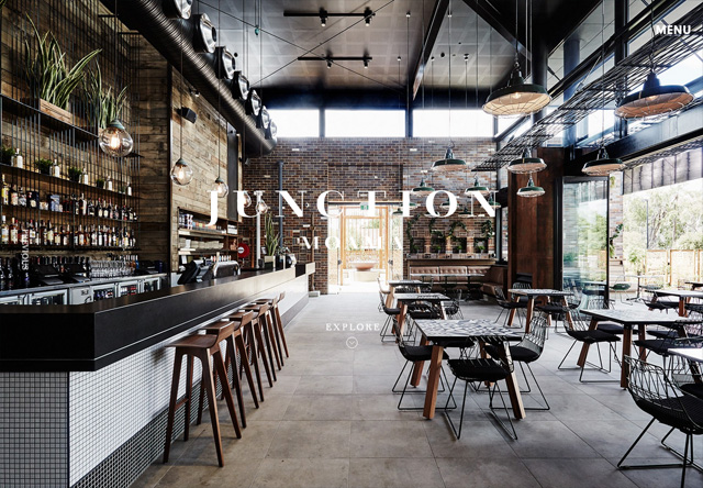Image of a restaurant website: Junction Moama