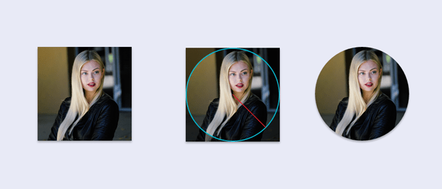 How to create circular img elements from square-shaped photos