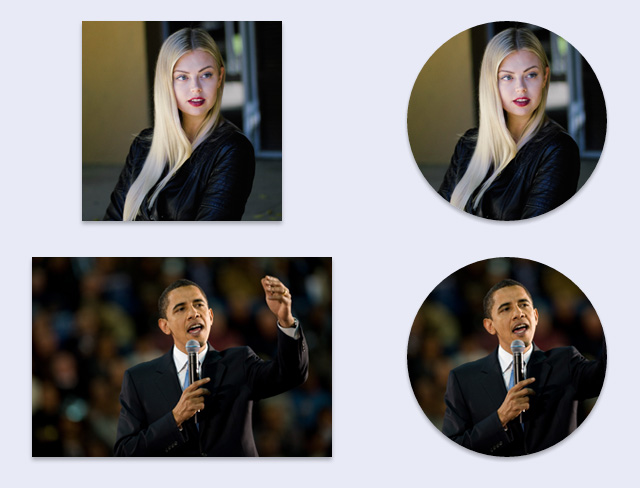 Examples of CSS circular/roiunded images