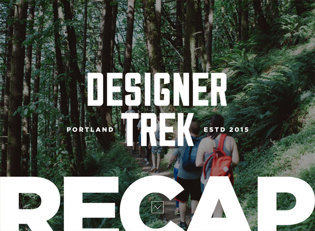 One-page website: Designer Trek