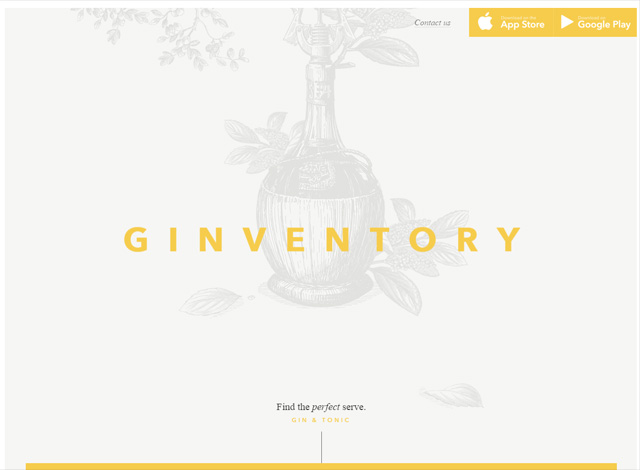 One-page website: Ginventory