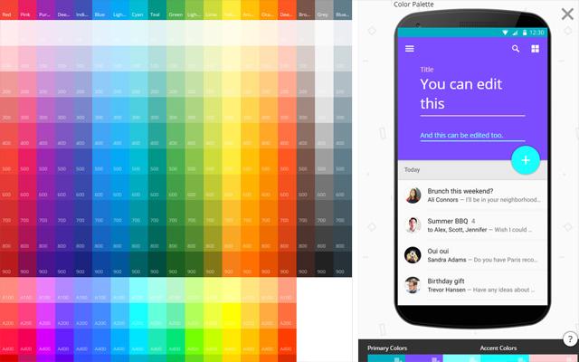 Material UI's Material Design Colors